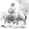 My Dream Job我的夢想其實是放牛。 我很喜歡中國古風,所以致力於嘗試將水墨風格融合到我的繪圖中,希望我能夠慢慢抓到其中韻味。
