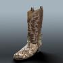 Boot (2014)復古牛仔靴做舊質感的練習