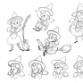 Character Design – The Little Witch MarcyCharacter Design of The Little Witch Marcy / Color pencil / 2015