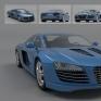 R8改裝Audi R8 為主要參考資料,再組合其他跑車外觀細節,並對部分外觀作些微改裝。