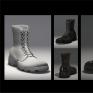 軍靴_Military Boots當兵每天擦皮鞋,所以很仔細觀察過皮鞋質感。 藉此機會做質感練習、呈現。