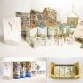 馬祖芹壁村 文創包裝設計芹壁村位於台灣的馬祖外島,有人稱它為「東方地中海」, 它以豐富的海洋文化及閩東花崗岩石屋建築聞名。 我們將當地的特產「金銀花茶」結合在地文化製作出一套包裝, 其中還包含了一本介紹當地景點與歷史的圖畫書「芹壁世紀圖」。