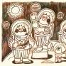 PLANET CHASER個人插畫創作。我們以透徹研究所有星球為宗旨,當然,採集資料結束之後會安全的還給浩瀚宇宙!