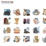 TimeCall 貼圖設計各種花色的貓咪生活點滴