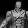 蝙蝠俠 Zbrush硬邊雕刻