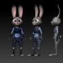 Zootopia-Judy Hopps 3D雕刻(2D參考Google搜尋圖片)