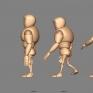 人體動態:重拳人體出拳的系列圖。</br> Beefy Rig : https://www.highend3d.com/maya/downloads/character-rigs/c/ultimate-beefy-for-maya